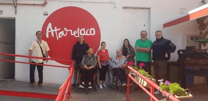 La Fundación Ataretaco recibe la visita de Coordicanarias: coordinadora de personas con discapacidad física de Canarias