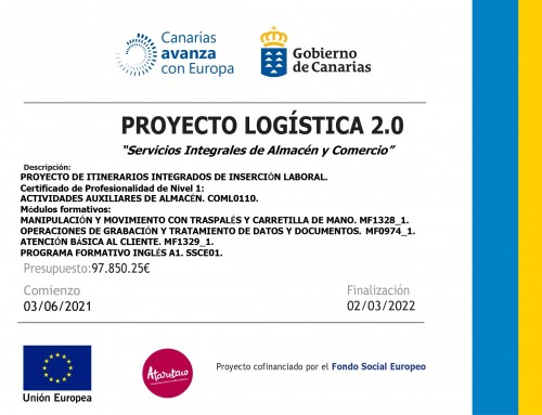 Proyectos de Itinerarios Integrados de Inserción Laboral en Ataretaco