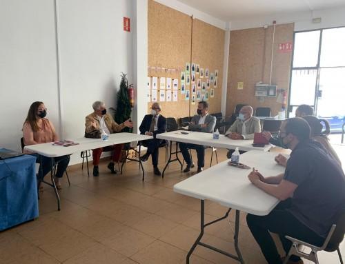 Visita de la Fundación Bancaria la Caixa a la Fundación Ataretaco